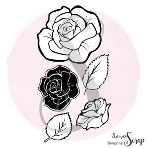 Tampon Trio de roses
