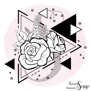 Tampon Triangles de roses modernes
