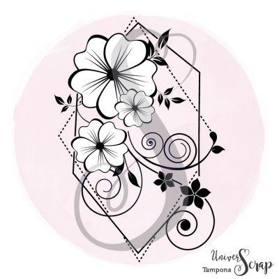 Tampon Prisme de petites fleurs