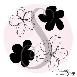 Tampon Fleurs watercolor
