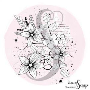 Tampon Fond fleurs grunge
