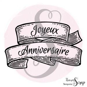 Tampon Ruban Joyeux anniversaire 2