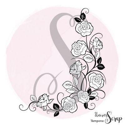 Tampon Coin fleuri