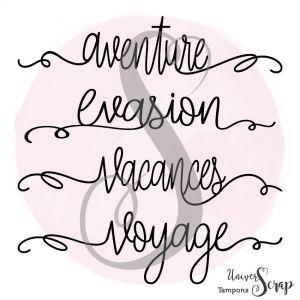 Tampon 4 mots Voyage