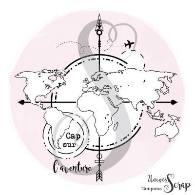 Tampon Map Monde