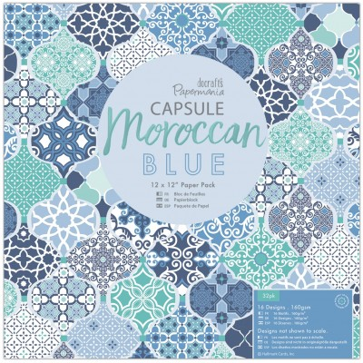 Kit 30x30 Docrafts Moroccan Blue