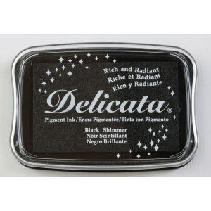 Encre à pigments Delicata Black Shimmer