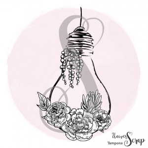 Tampon Ampoule fleurie