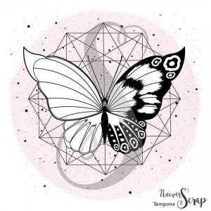 Tampon Héxagone & Papillon