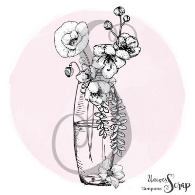 Tampon Vase Coquelicot et Cerisier