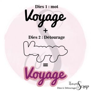 Dies & son détourage Voyage