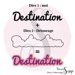 Dies & son détourage Destination