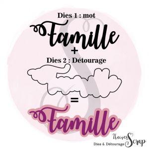 Dies & son détourage Famille