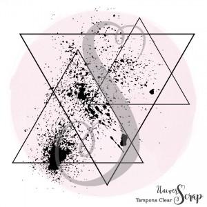 1 Tampon Clear Triangles mouchetés