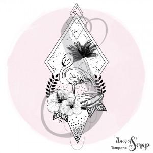 Tampon Flamant rose