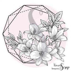 Tampon Héxagone Fleuri