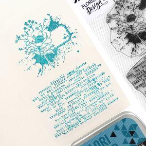 Tampon Fleur étiquette
