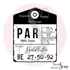 Tampon Etiquette Bagage
