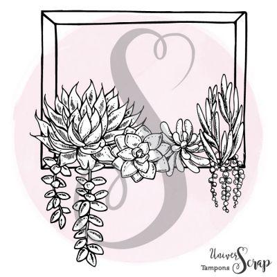Tampon Cadre rectangle & succulentes