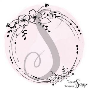Tampon Rond fleuri