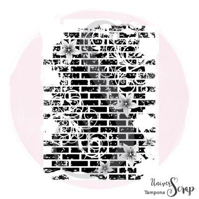 Tampon Fond Mur Fleuri