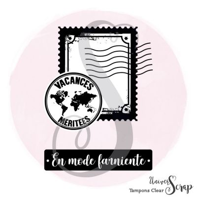 2 Tampons Clear Timbre vacances