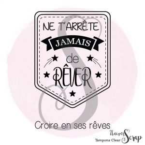 1 Tampon Clear Tag Rêver