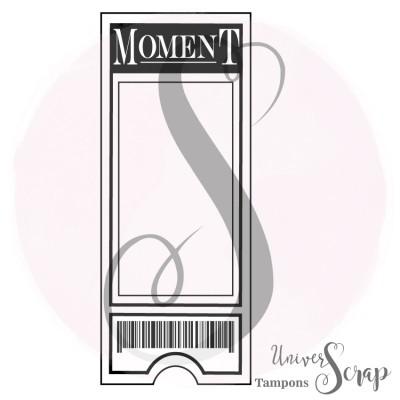 """Tampon Grande étiquette """"Moment"""""""