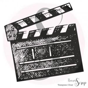 Tampon Clear Clap de cinéma