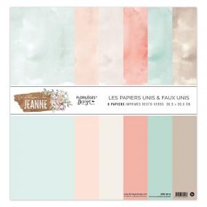 Kit 6 Papiers Unis La maison de Jeanne