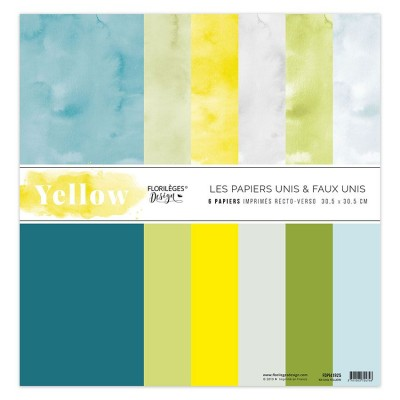 Kit 6 Papiers Unis Yellow