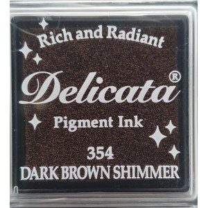 Encre à pigments Delicata Dark Brown Shimmer