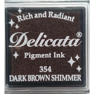 Encre à pigments Delicata Dark Brown Shimmer
