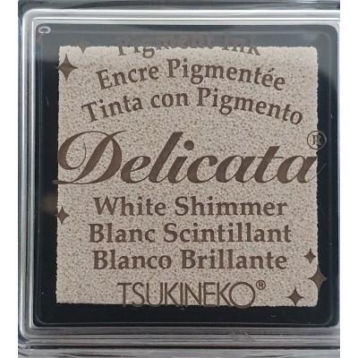 Encre à pigments Delicata White Shimmer