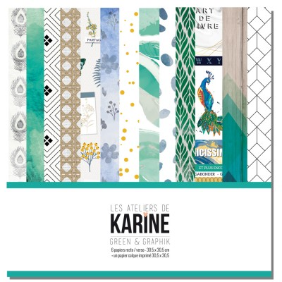Kit 30x30 Green & Graphik (Karine)