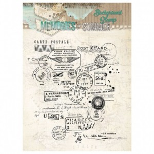 Tampon Grunge Post card