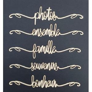 Planche Bois 5 mots Photo