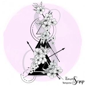 Tampon XL Fleurs et triangles