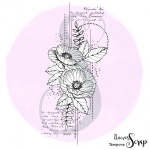Tampon Fleur grunge
