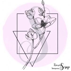 Tampon Fleurs Géométriques