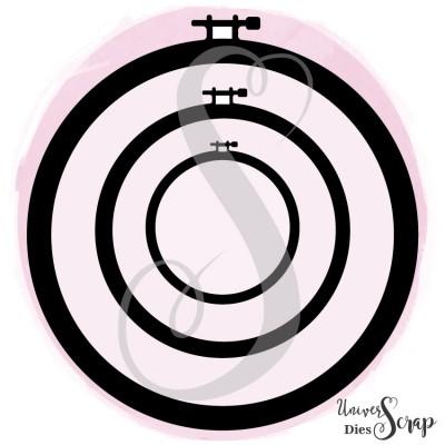 Dies 3 Cercles à broder