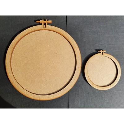 Cercles à broder bois