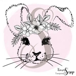 Tampon Lapin fleuri