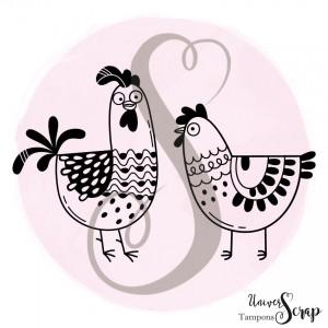 Tampon Petites poules