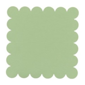 SCALLOPED APPLE GREEN-Papier Bazzill 30X30