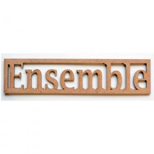 """Mot en Bois """"Ensemble"""" PM"""