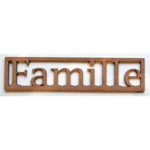 "Mot en Bois ""Famille"" PM"