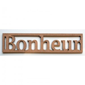 "Mot en Bois ""Bonheur"" GM"