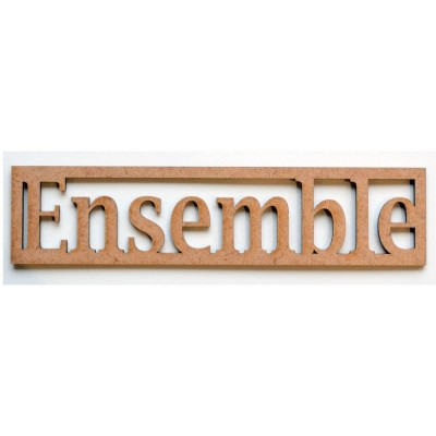 """Mot en Bois """"Ensemble"""" GM"""