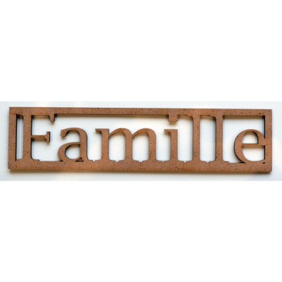 "Mot en Bois ""Famille"" GM"